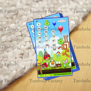 Angry Bird Housie Tambola Ticket Game
