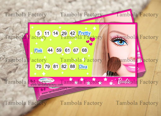 Barbie Doll Housie Tambola Ticket