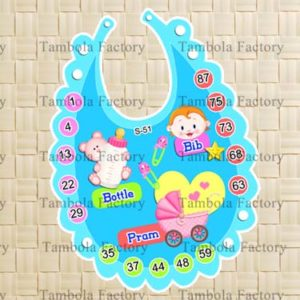 Baby Shower Boy Bib Tambola Ticket