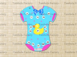 Baby Shower Romper Housie Tambola Ticket