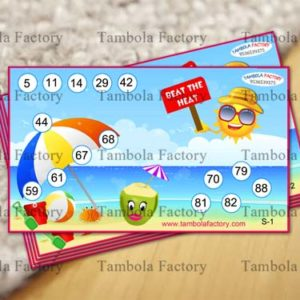 Summer Theme Tambola Tickets