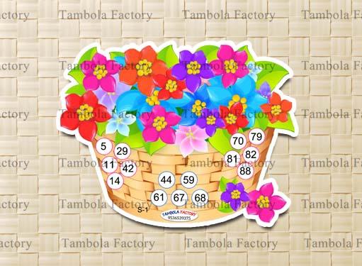 Flowers Bouquet Housie Tambola Ticket