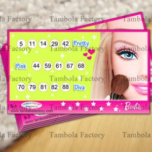 Barbie Doll Housie Tambola Ticket