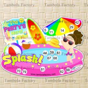 Swimming Pool Aqua Housie Tambola Ticket Game