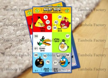 Angry Bird Birthday Housie Tambola Ticket