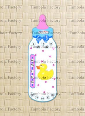 Baby Shower Bottle Housie Tambola Ticket