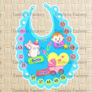 Baby Shower Boy Bib Tambola Ticket