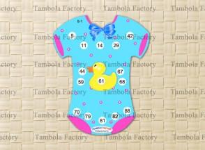 Baby Shower Romper Housie Tambola Ticket